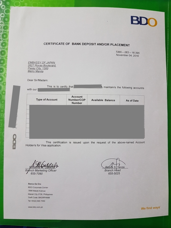 bank certificate | CHIN MEETS \